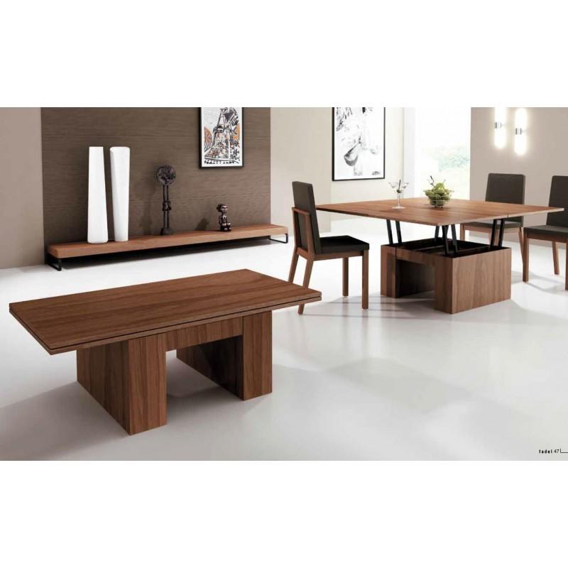 Mesa de centro elevable y convertible a mesa de comedor Yaiza Tadel