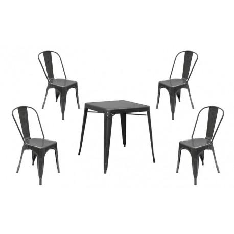 Conjunto mesa y 4 sillas Volt