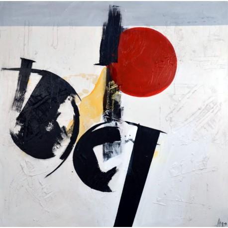 Cuadro original abstracto de Arqués