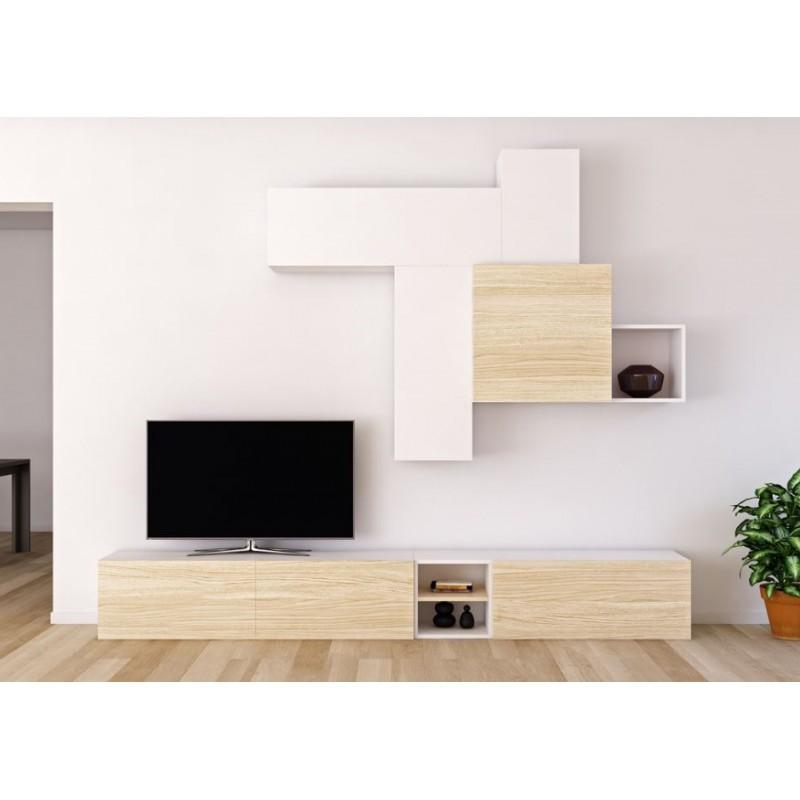 Composici n modular para sal n modelo tetris con muebles - Composiciones de salon ...