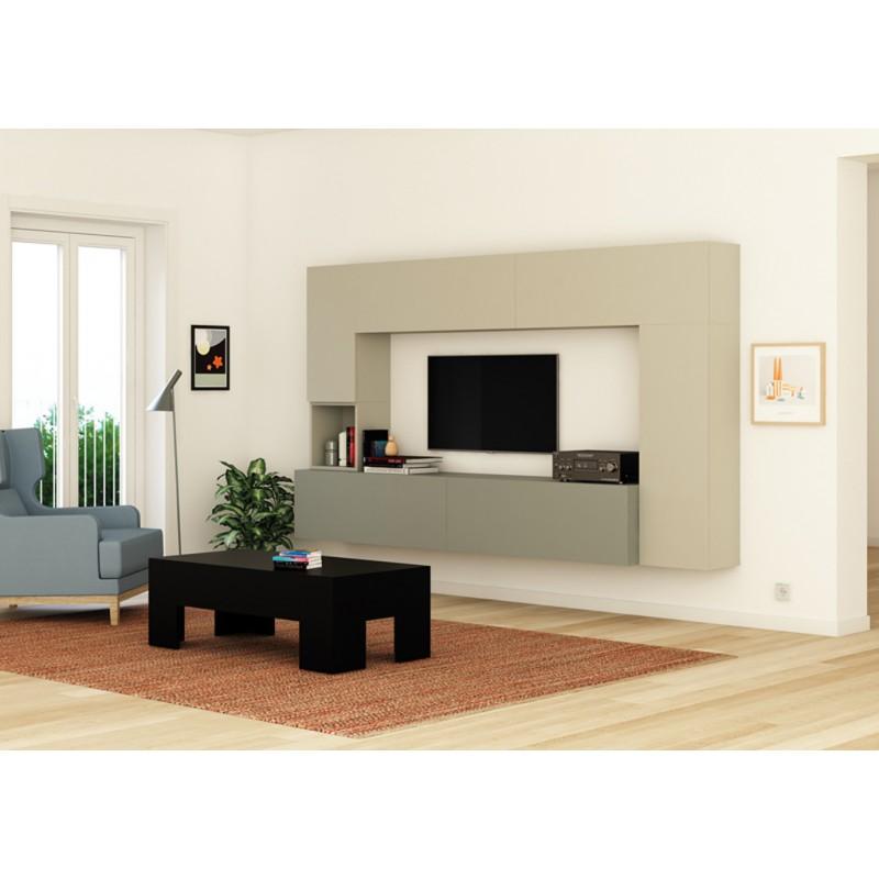Composici n modular para sal n modelo tetris con muebles - Composicion salon ikea ...