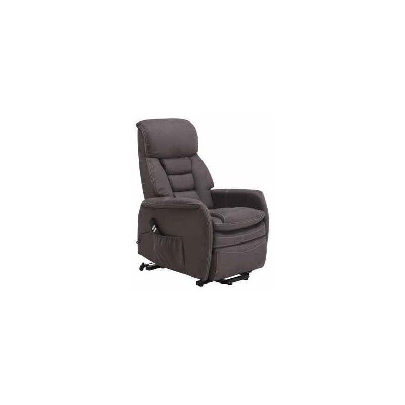 Sill n relax reclinable y elevable modelo canc n for Sillon relax gris