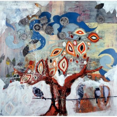 Cuadro abstracto Virola