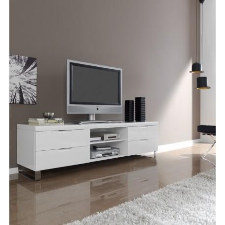 mesa tv blanca