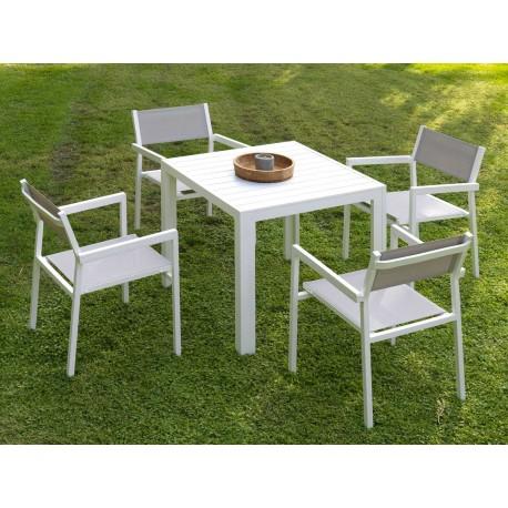 Set Mesa cuadrada y sillas Calpe