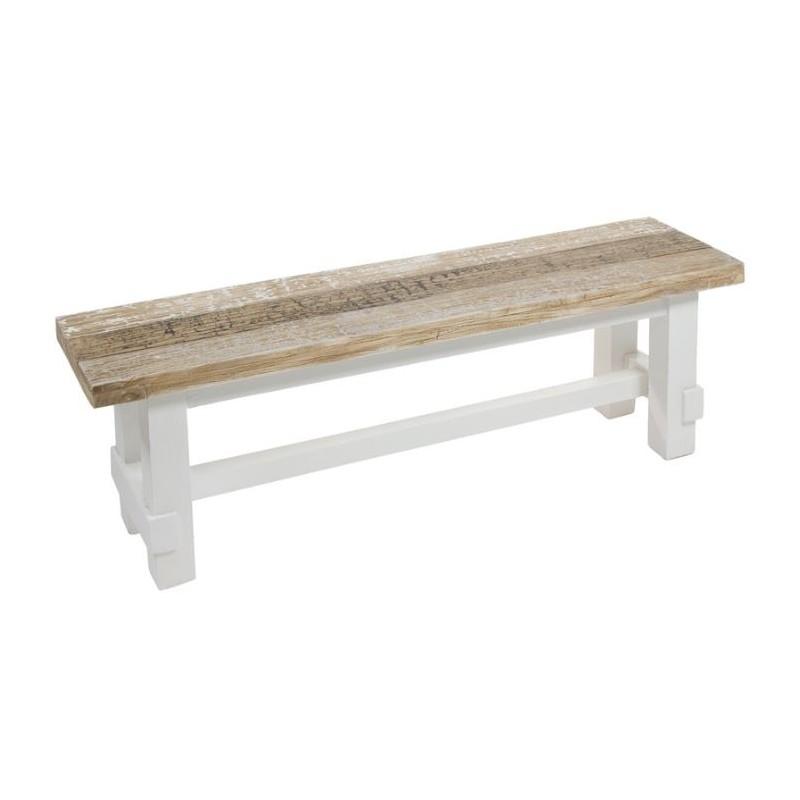 Banco para mesa de comedor rabat de madera envejecida de - Bancos para mesa de comedor ...