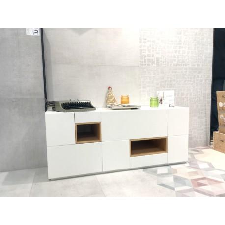Mesa tv colonial de madera de mindi mueble tv estilo n rdico actual - Aparador bajo ...