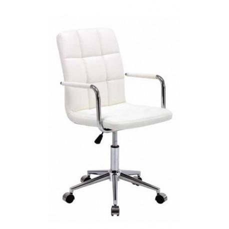 Silla de oficina tapizada polipiel karla silla de dise o for Sillas para comedor de oficina
