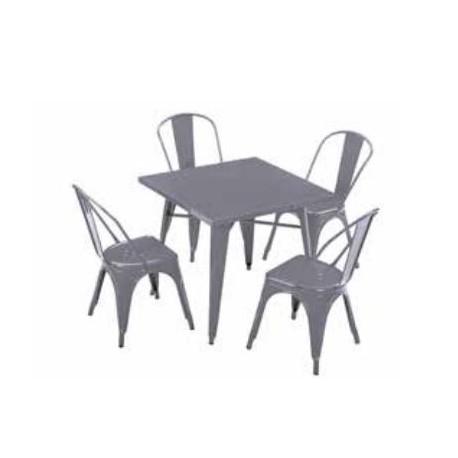 Set mesa y 4 sillas Tolix
