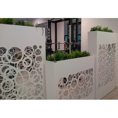 Jardinera con 4 bancos jardinera de acero corten for Jardineras para exterior