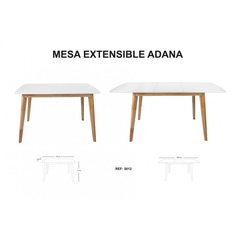 Mesa de comedor extensible de dise o n rdico mesa adana for Mesa extensible diseno
