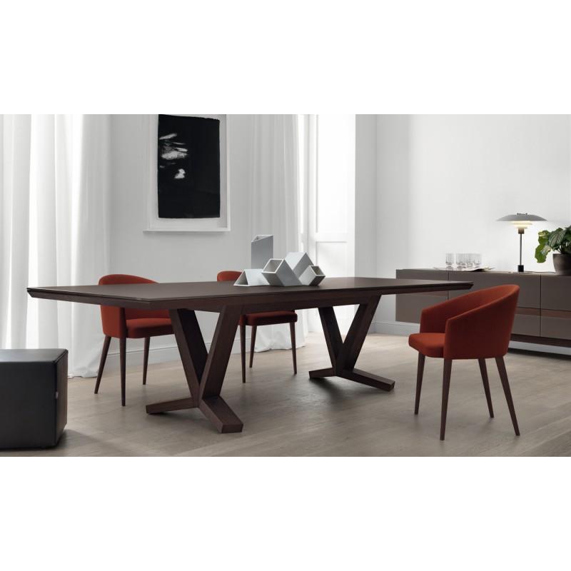 Mesa rectangular de dise o italiano mesas de comedor for Mesas diseno italiano