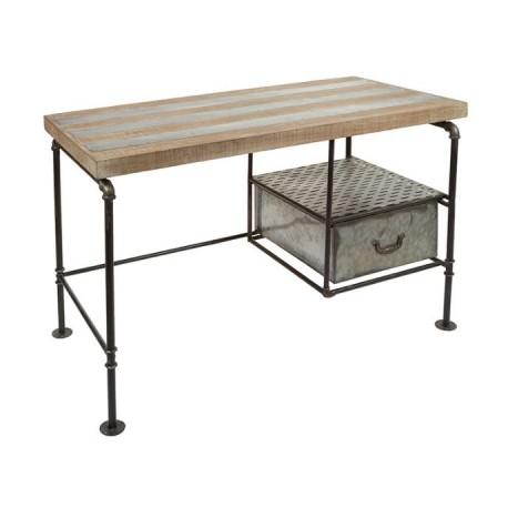 Mesa escritorio vintage de estilo industrial combinando - Escritorio vintage ...