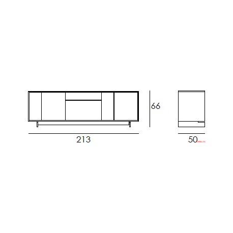 Aparador Frame bajo base madera