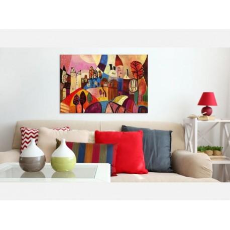 Cuadro Pueblo de colores