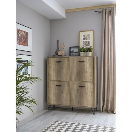 Mueble cubo Natural 4 puertas
