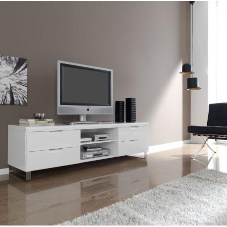Mueble tv 602 de dise o moderno y acabado laca blanca alto - Mesas tv diseno ...