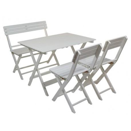 Conjunto mesa y silla de exterior