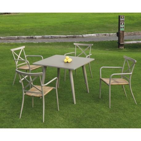Conjunto mesa y 4 sillas Algarve