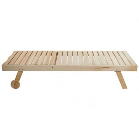 Tumbona clásica de madera de alamo