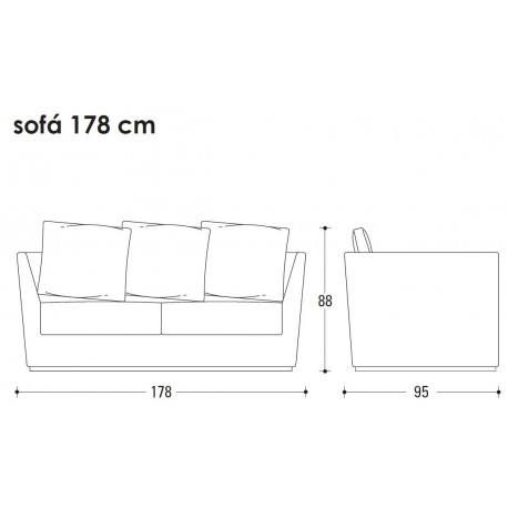 Sofa Richard 2 plazas