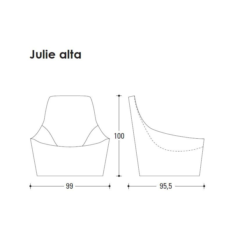 Butaca tapizada de dise o italiano julie alta de jesse for Butacas diseno italiano