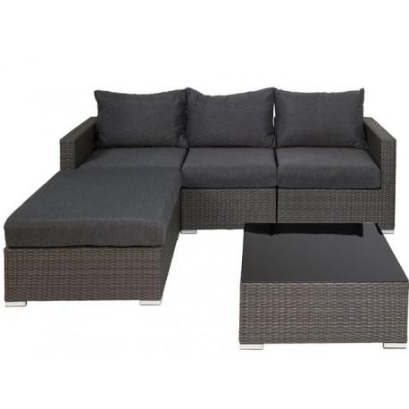 Conjunto sofás y mesa ratan