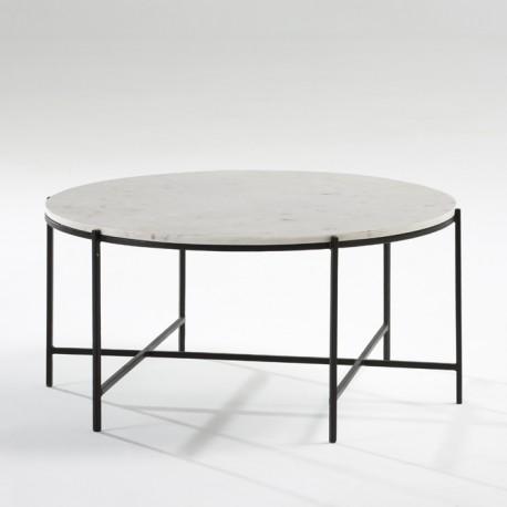 Mesa de centro redonda marmol blanco