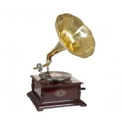 Gramófono de latón