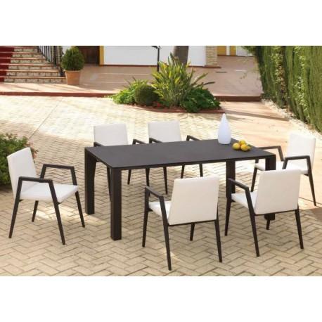 Conjunto mesa y 6 sillas Marbella