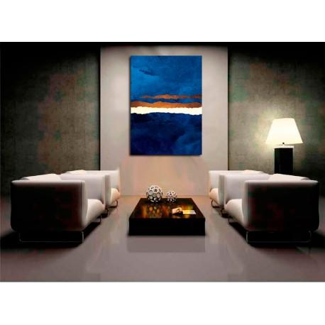 Cuadro Abstraccion en azul II