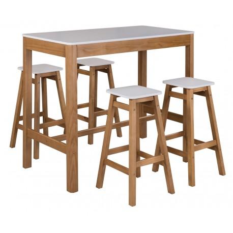 Set mesa alta y taburetes Bar-Cenas