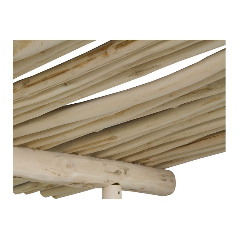 Cama con dosel corcega de madera de teca maciza y acabado - Camas con dosel ...
