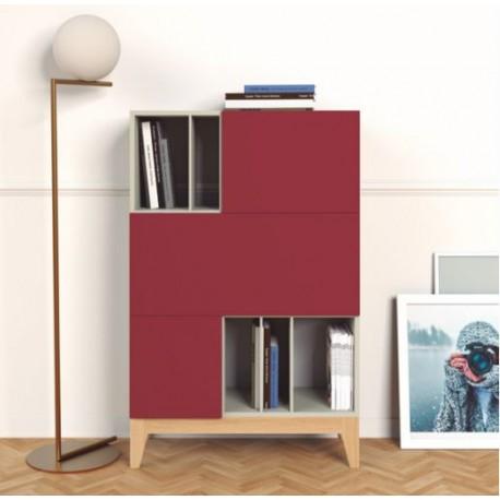 Mueble contenedor Lisboa con tarima