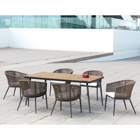 Mesa y sillas jardin Roma