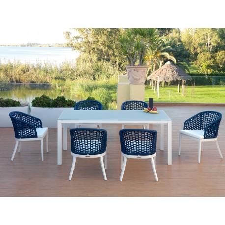 Conjunto mesa y 6 sillas San Marino