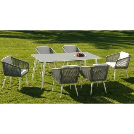 Conjunto mesa y 6 sillas Siena