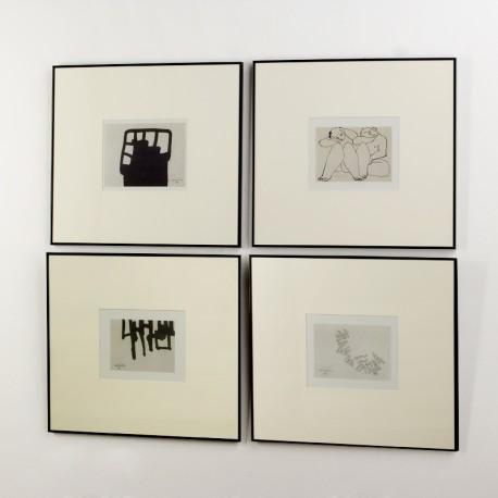 Set 4 cuadros originales