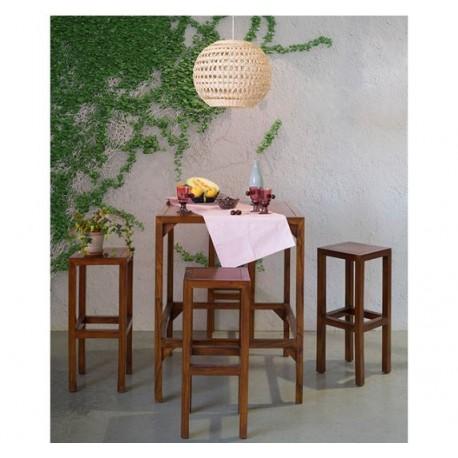 Mesa alta y 4 taburetes Barilo