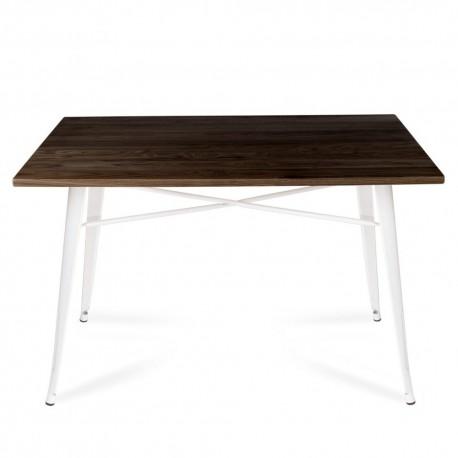 Mesa Tolix con tapa madera