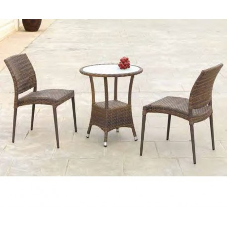 Conjunto mesa auxiliar y 2 sillas Calviá