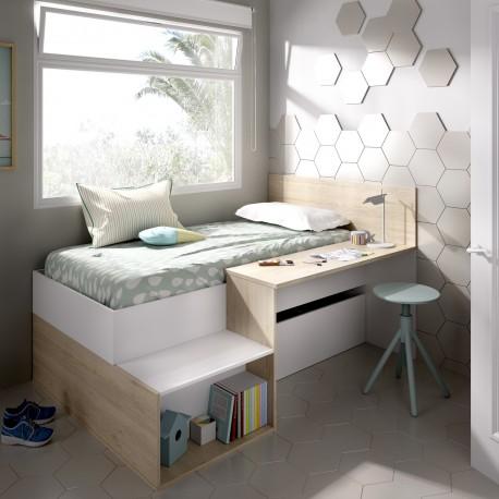 Cama compacta con escritorio Punt