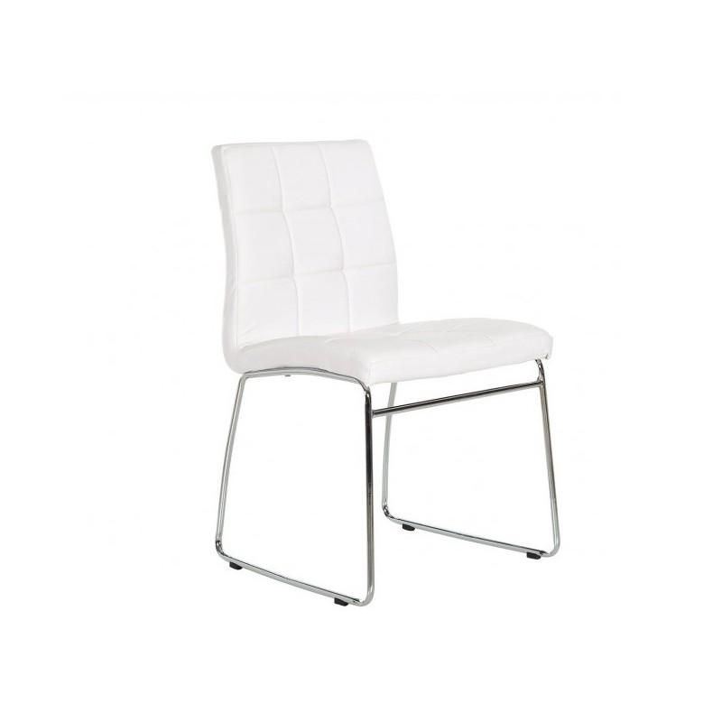 Silla tapizada polipiel karla silla de dise o en valencia for Sillas diseno valencia
