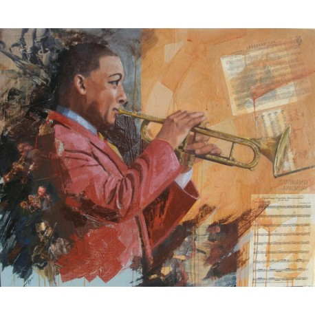 """Cuadro de José Alguer """"Jazz Fusion"""""""