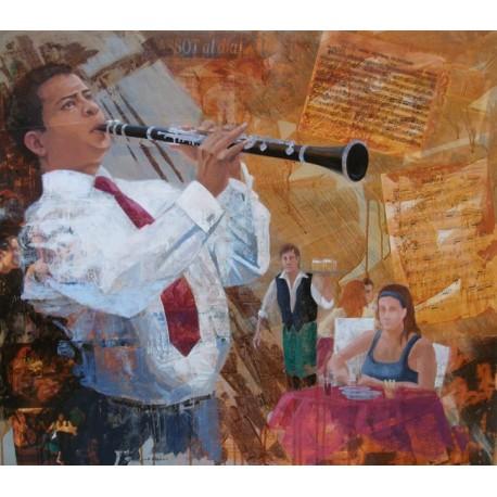 """Cuadro de José Alguer """"Festes"""""""