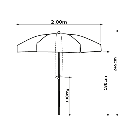 Parasol Classico Raffia
