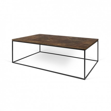 Mesa centro Gleam -tapa madera-
