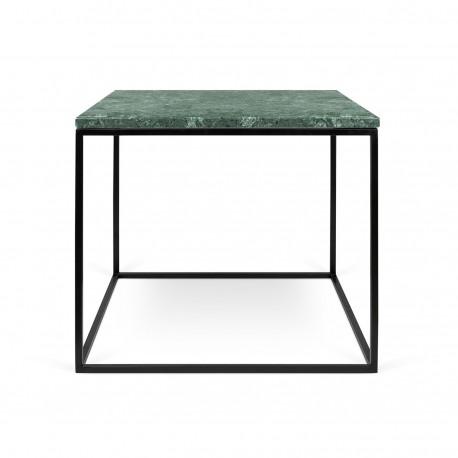 Mesa de rincón de marmol y metal
