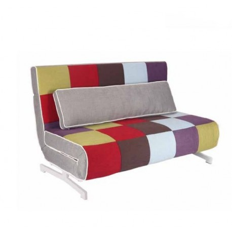 Sofa cama italiano modelo milano cabezal reclinable y for Sofa cama pequeno medidas