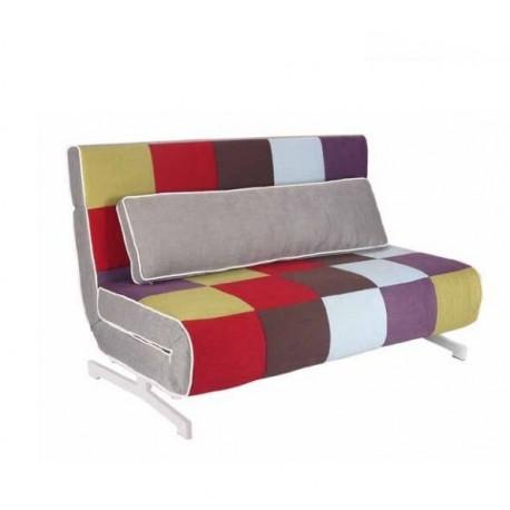 Sofa cama valencia tapizado simil piel marr n o blanco - Sofa cama juvenil ...